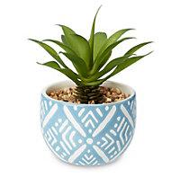 Blue Faux succulent Decorative plant