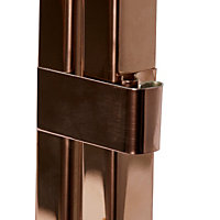 Copper effect Tapered Metal Lantern