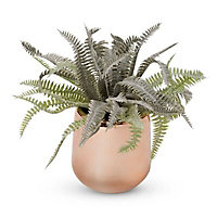 Pot with artificial fern