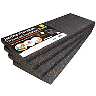 Jablite Premium Polystyrene Insulation board (L)1.2m (W)0.45m (T)50mm, Pack of 4