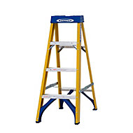 Werner 4 tread Fibreglass Step Ladder (H)1.12m