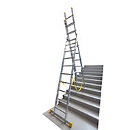 Werner ExtensionPLUS™ X4 29 tread Combination ladder with stair function