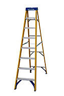 Werner 8 tread Aluminium & fibreglass Step Ladder (H)2.23m