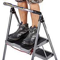 Werner 2 tread Steel Foldable Step stool (H)0.9m