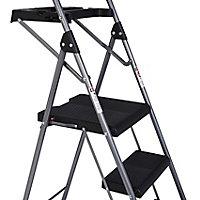 Werner 3 tread Steel Foldable Step stool (H)1.4m