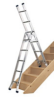 Werner Triple 3-Way 12 tread Combination ladder