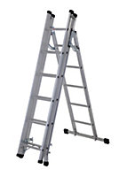 Werner Multi-purpose 4-Way 18 tread Combination ladder