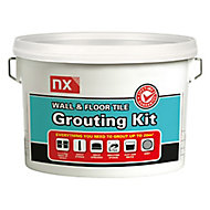 NX Standard set Grey Wall & floor tile grouting kit (W)5kg