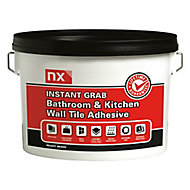 NX Instant grab Ready mixed Off white Wall Tile Adhesive, 12kg