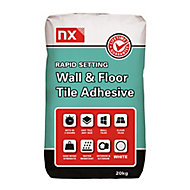 NX Rapid set Ready mixed White Floor & wall Tile Adhesive, 20kg