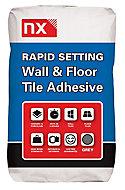 NX Rapid set Grey Floor & wall Tile Adhesive, 15kg