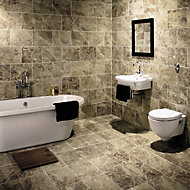 Illusion Emper Gloss Stone effect Ceramic Wall & floor tile, (L)360mm (W)275mm, Sample