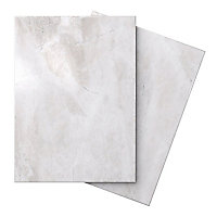 Illusion White Gloss Stone effect Ceramic Wall & floor tile, (L)360mm (W)275mm, Sample