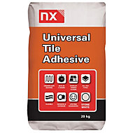 NX Universal Powder Wall & floor tile adhesive, Stone white 20 kg