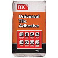 NX Universal Powder Wall & floor tile adhesive, Stone white 20 kg