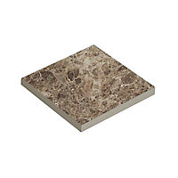 Illusion Brown Marble effect Ceramic Wall & floor tile, (L)100mm (W)100mm, Sample