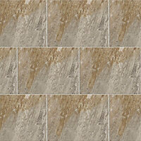 Illusion Stone Stone effect Ceramic Wall & floor tile, (L)100mm (W)100mm, Sample