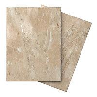 Illusion Mocha Marble effect Ceramic Wall & floor tile, (L)100mm (W)100mm, Sample