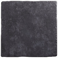 Calcuta Black Marble effect Ceramic Wall & floor tile, (L)100mm (W)100mm, Sample