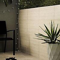 Illusion Bone Marble effect Ceramic Wall & floor tile, (L)100mm (W)100mm, Sample