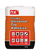NX Universal Powder Wall & floor tile adhesive, White 10 kg