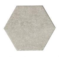 Urban Grey Matt Concrete effect Ceramic Wall tile, Pack of 50, (L)150mm (W)173mm