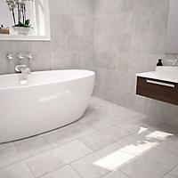 Urban Cement Grey Matt Stone effect Ceramic Wall & floor tile, Pack of 5, (L)600mm (W)300mm