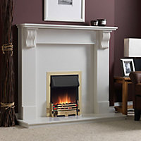 Dimplex Whitsbury White Brass effect Electric Fire
