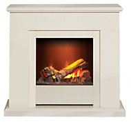 Dimplex Opti-myst White Electric Fire Suite