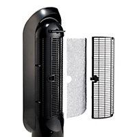 Dimplex Black & silver effect Freestanding 2500W Tower fan