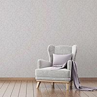 Fine décor Laurel Mauve Floral Wallpaper