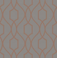 Fine Décor Apex Charcoal Geometric Metallic effect Smooth Wallpaper
