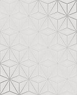 Fine Décor Pulse Geometric Metallic effect Embossed Wallpaper