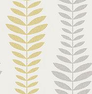 Fine Décor Hampten Grey Floral Gold effect Smooth Wallpaper