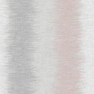 Fine décor Aukland Pink & Grey Striped Wallpaper