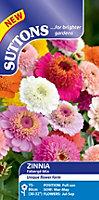 Suttons Zinnia Seeds, Faberge Mix