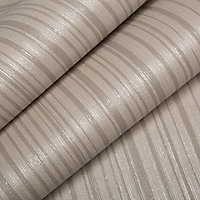 Graham & Brown Kelly hoppen Taupe Striped Wallpaper