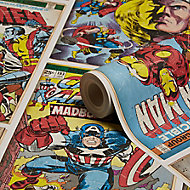 Graham & Brown Marvel Action heroes Multicolour Comic Smooth Wallpaper