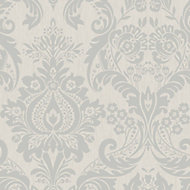 Graham & Brown Superfresco Silver effect Wallpaper
