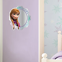 Disney Frozen Printed Multicolour Circular Frameless Unframed mirror (H)300mm (W)300mm