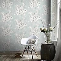 Graham & Brown Fresco Blue Chantilly Mica effect Wallpaper