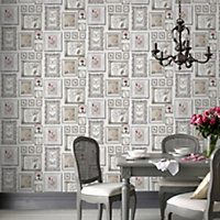 Graham & Brown Fresco White Butterfly Smooth Wallpaper