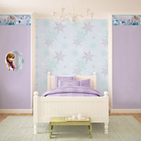 Disney Disney Frozen Blue Snow flake Mica effect Wallpaper