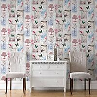 Graham & Brown Fresco Multicolour Oriental notes Wallpaper