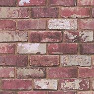 Graham & Brown Fresco Red Brick effect Wallpaper