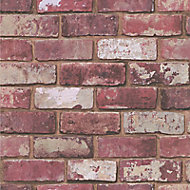 Graham & Brown Fresco Red Brick effect Smooth Wallpaper