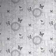 Graham & Brown Fresco Charcoal Butterfly Smooth Wallpaper