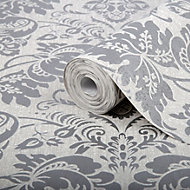 Superfresco Easy Como Silver Glitter Wallpaper