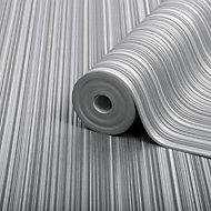 Boutique Palma Ice Striped Metallic Wallpaper