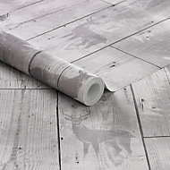 Superfresco Easy Grey Wood effect Wallpaper